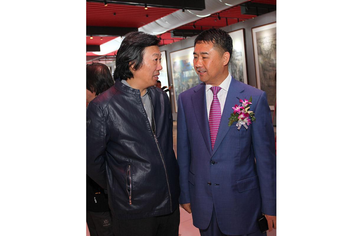 中国美术家协会艺术中心主任-丁杰-昌宇集团董事长李刚