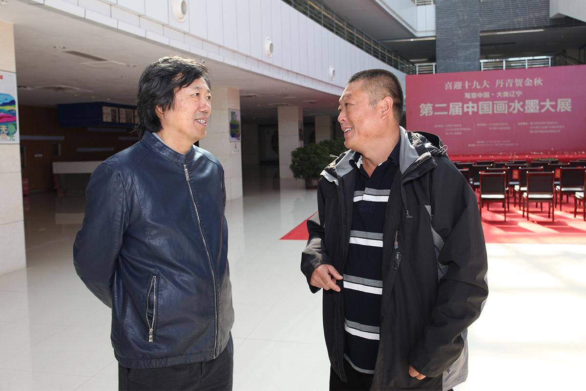 中国美术家协会艺术中心主任丁杰-营口市美术家协会主席喻国景